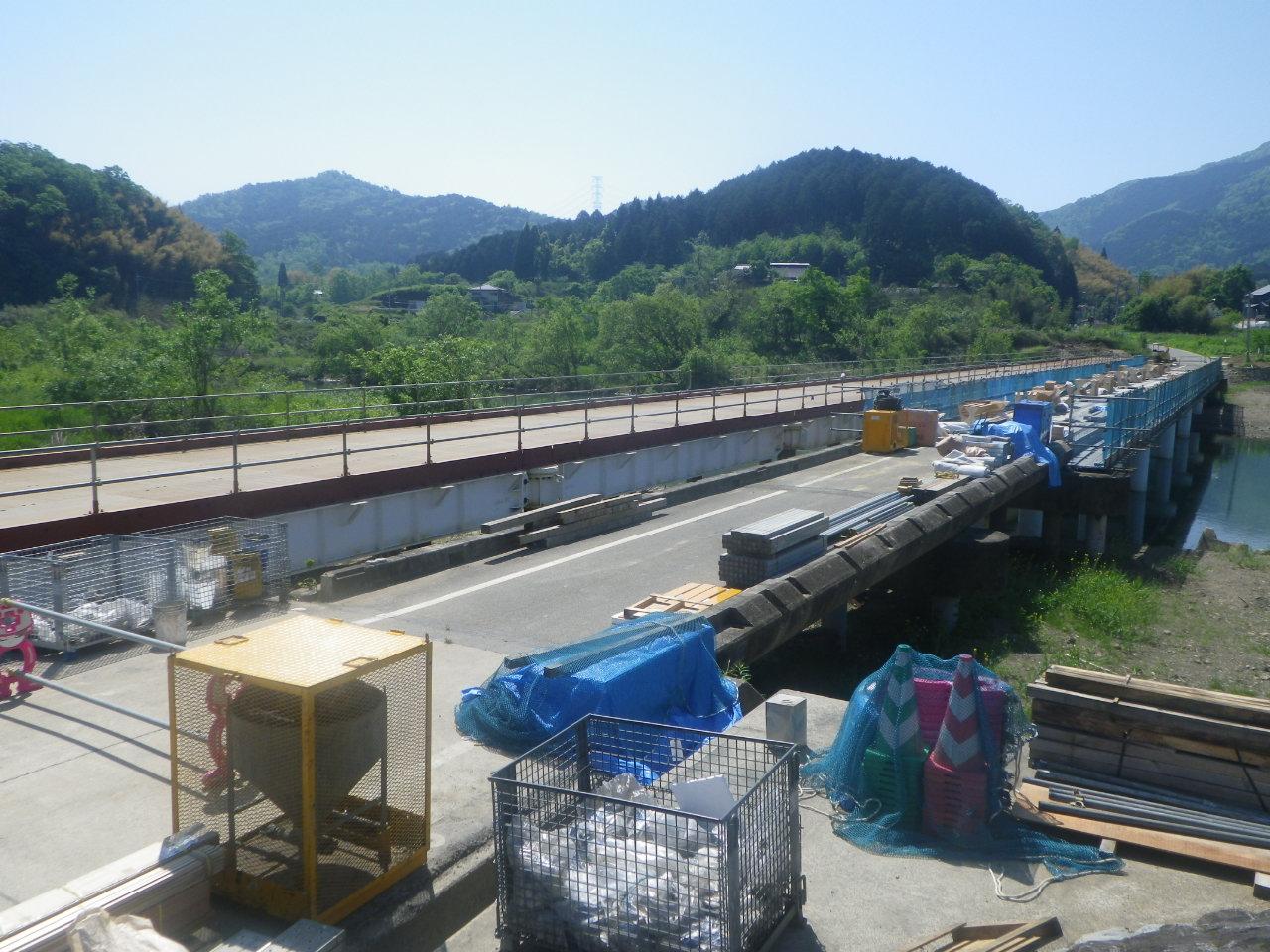 私市大江線(在田橋)緊急橋梁復旧工事